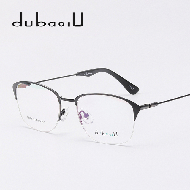 9438374332 Alloy Eye Glasses Frame Vintage Retro Half Rim Oval Myopia Clear Computer  Optical Prescription Eyewear Frames For Men  66885