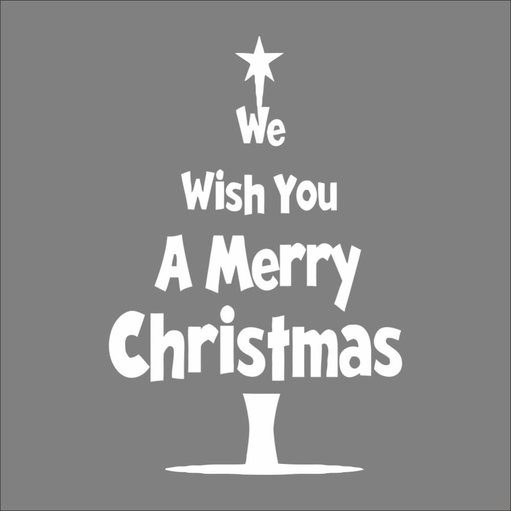 Nós lhe desejamos um Feliz Natal árvore parede adesivo xmas58 swindow natal decoração da sala decalques