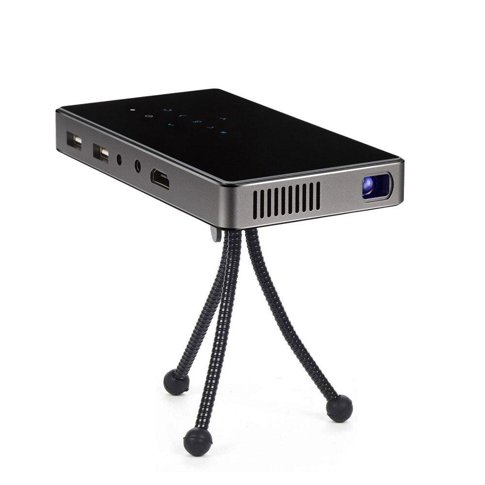 WZATCO CT50 Android 7.1 OS WIFI Bluetooth Pico Mini Micro lAsEr DLP projecteur Portable Proyector avec batterie pour Home cinéma - 3