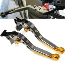 цена на Motorcycle Adjustable Extendable Brakes Clutch Lever For SUZUKI HAYABUSA 1300 GSXR1300 GSX-R1300 K1 K2 K3 K4 K5 K6 K7 1999-2007