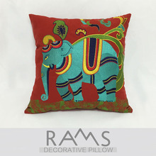 Home Decorative Model room sofa bed decorative cushion cover pillowcase auspicious elephant embroidery flower waist