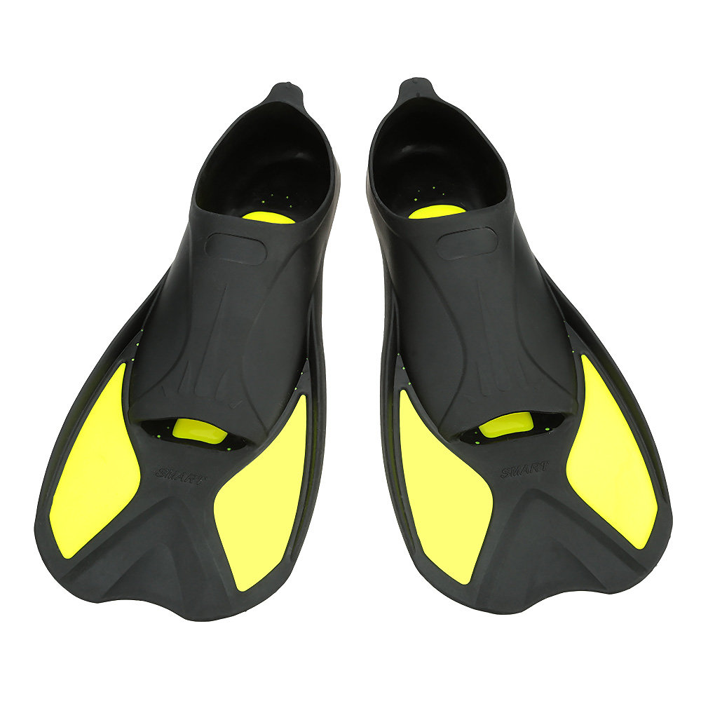 Prix pour Palmes de natation de Haute Qualité Courte Nageoire Plongée Palmes Silicone Portable Confortable Plongée Équipement Taille XXS, XS, S, M, L, XL
