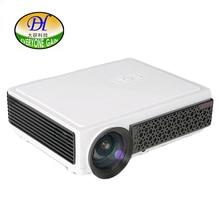 Rojo-azul 3D TV Proyector de la Ayuda 1080 P Estéreo altavoz Karaoke LED LCD Proyector con USB 3.0 HDMI Beamer TL98
