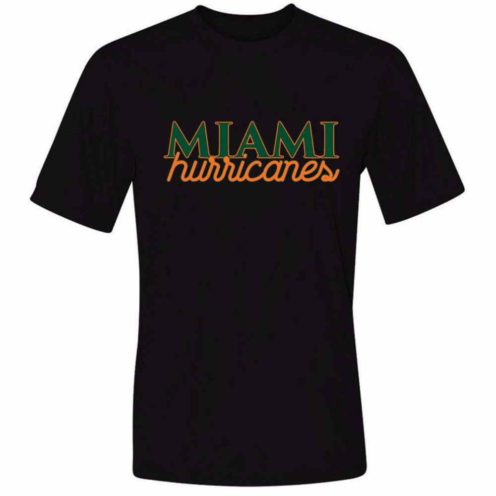 Design your own t-shirt miami - Miami Hurricans Mens Personalized T Shirt Short Sleeve Tee
