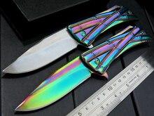 High Quality  ZHU-1 Tactical folding knife bearing flip camping survival pocket knives 9CR15MOV blade hunting use knife