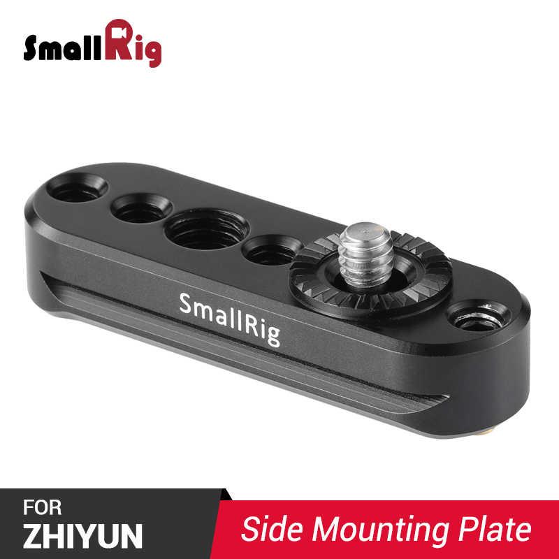 SmallRig boczna płyta montażowa z rozetą dla Zhiyun Weebill LAB i żuraw 3 funkcja Gimbal Quick Release Nato Rail 2273