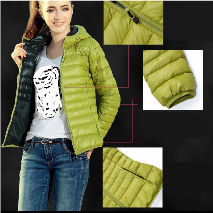 Jacket   Women New   Basic     Jackets   Fashion Zipper Thin Parkas Spring Winter Down Women Sexy Leisure Loose Long -Sleeved Cardigan