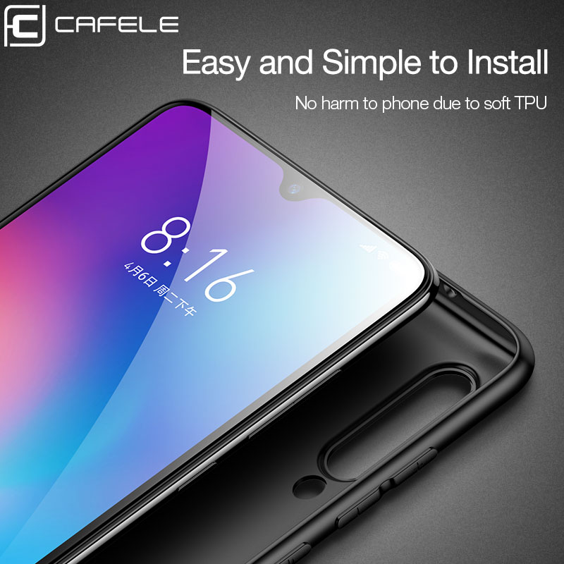 CAFELE Luxury Ultra Thin Case for Xiaomi 9 mi 9 Silicone TPU Soft Case protective Matte shell full Cover Anti Finger for mi 9 in Fitted Cases from Cellphones Telecommunications