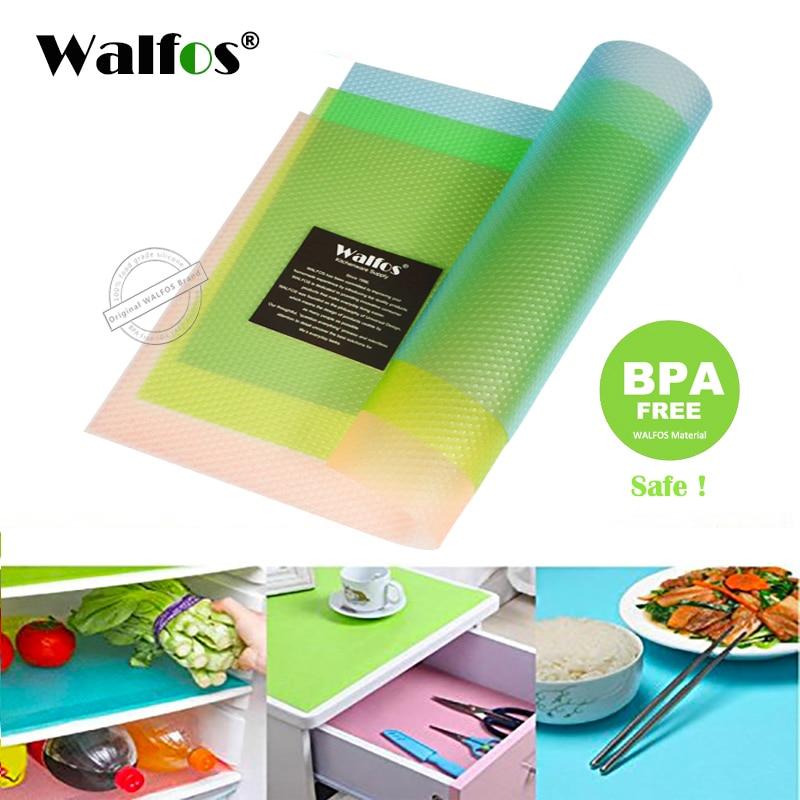 WALFOS podloga za hladilnik za kuhinjo 2 kosa 30 * 45 cm hladilna blazinica proti obraščanju plesni vlažna zaščitna blazinica hladilnik vodoodporna preproga