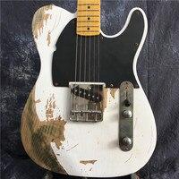 Korean Factory Professional Handmade Relic 1962 FD TL Electric Guitar Brass Saddles Humbucker Neck Pickup