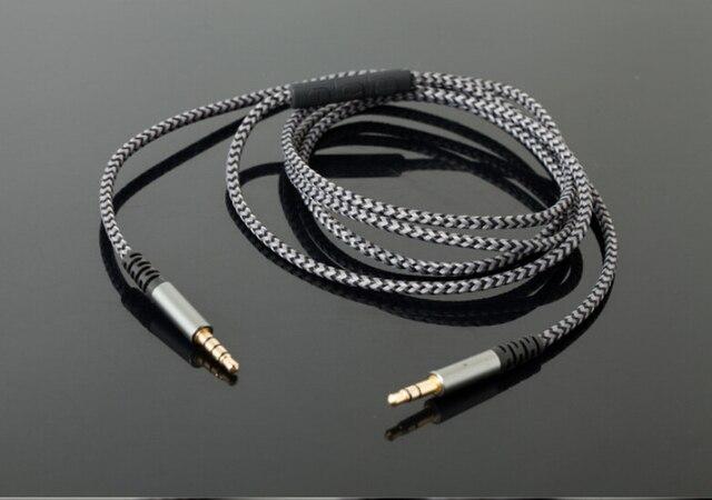 Jack 3,5mm mit mic kabel vergoldet Geflochtenen draht 3 pol stecker ...