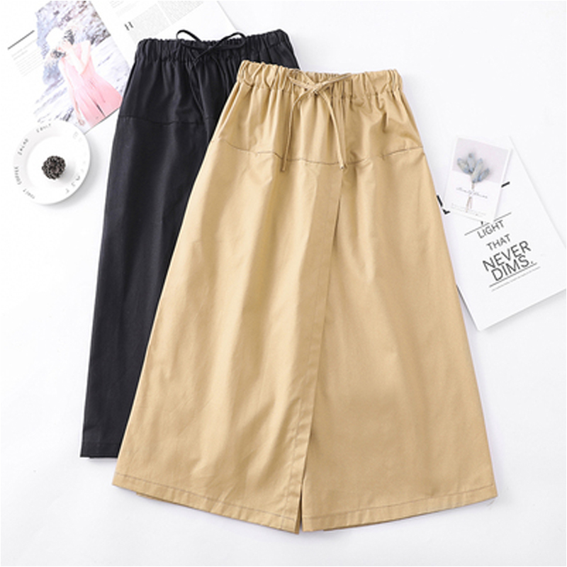 2019 Summer Plus Size 4XL Women Loose Wide Leg   Pants   European Style Bow Ladies Trousers Causal Drawstring Cotton   Pant   New   Capris