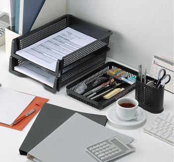 Nowe gorące kreatywne proste materiały biurowe schowek na pliki nałożony schowek A4 teczka papierowa tanie i dobre opinie Plik skrzynka Przypadku 253*329*70mm Z tworzywa sztucznego