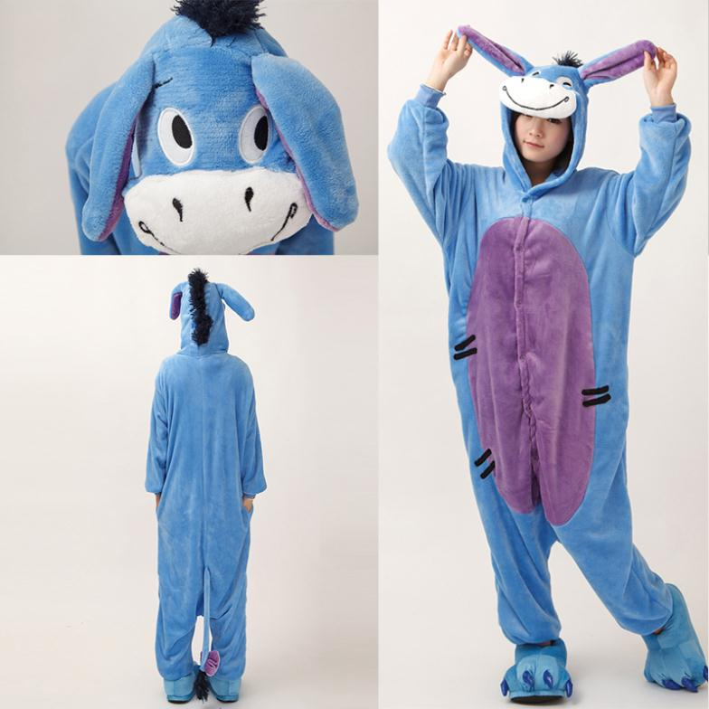 New Novelty Halloween Christmas Party Costumes Anime Animal Hair Honkey Onesie For Adults Unisex Women Mens Flannel Pajamas