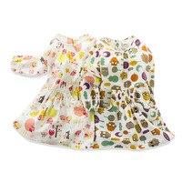 2016 Новый Шаблон Входящие Корейский детская Одежда Девочка Личности Сова Платье Девушка Куртка