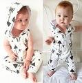 Moda Bonito Do Bebê Recém-nascido Macacão Macacão Com Capuz Meninos Meninas Roupas Roupas