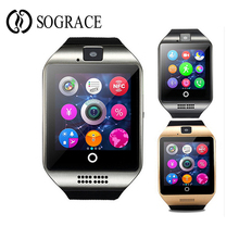 Get more info on the Smart Clock Q18 With Camera Sim TF Card Slot Push Message Bluetooth Connectivity Android Phone Men Women Smart Watches For Apple