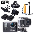 SJ5000 Водонепроницаемая Камера Wi-Fi Car DVR Полный FHD 1080 P 20MP Спорт Видеокамера + Шлем + Монопод LF588