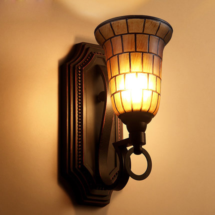Nordic Style Wall Lamp American Restaurant Vintage Wall Light Iron Glass Indoor Lighting Hotel ...