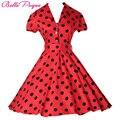 Mulheres vestidos de verão pinup balanço plus size polka dot maggie tang robe rockabilly 50 s vintage dress vestidos festa casual retro