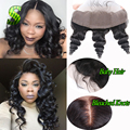 7A 13x4 Peruvian Lace Frontal Closure Loose Wave Ear To Ear Lace Frontals With Baby Hair VIrgin Human Hair Frontal Closure Stock