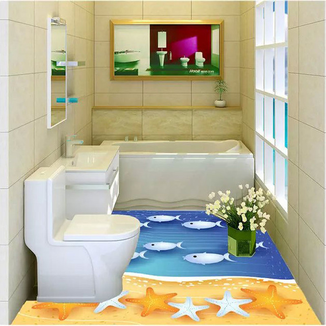 3D Innovation Fresh Garden Series Toilet Floor Tiles 60x60cm Ceramic  Bathroom Floor Tile 3D Scenery Floor
