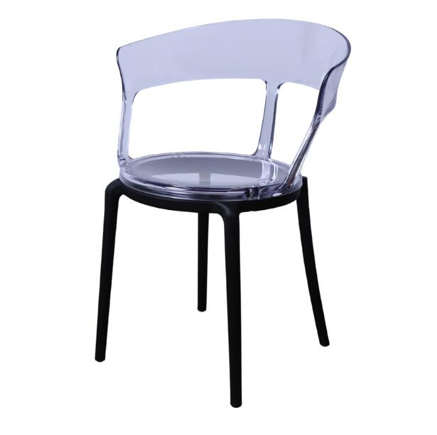 YINGYI Free Shipping Modern PC Plastic Dining Chair Without Arms Good Quality