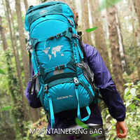 Top 80L 70L 60L Camping Hiking Backpack Day Trekking Climbing Mountaineering Outdoor Sport Travel Backpack Waterproof Rain Cover