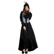 Umorden Womens Lizzie Borden Axe Murderess Costumes Fancy Halloween Purim Party Cosplay Dress Up