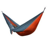 Portable Nylon Parachute Double Hammock Garden Outdoor Camping Travel Furniture Survival Hammock Swing Sleeping Bed For