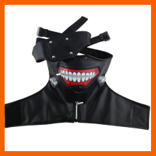 2018 NEW COSPLAY MASKS TOKYO GHOUL KANEKI KEN ADJUSTABLE ZIPPER FAUX LEATHER MASK HALLOWEEN SUPPLIES HOT SALE