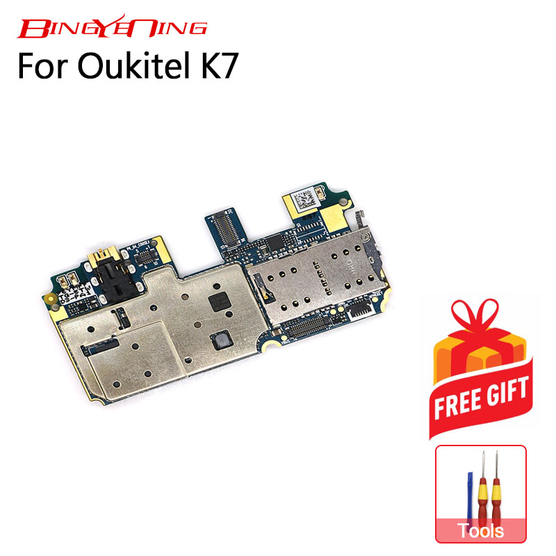 BingYeNing New Original For Oukitel K7 mainboard 4G 64G ROM Motherboard flex cable board Android 8