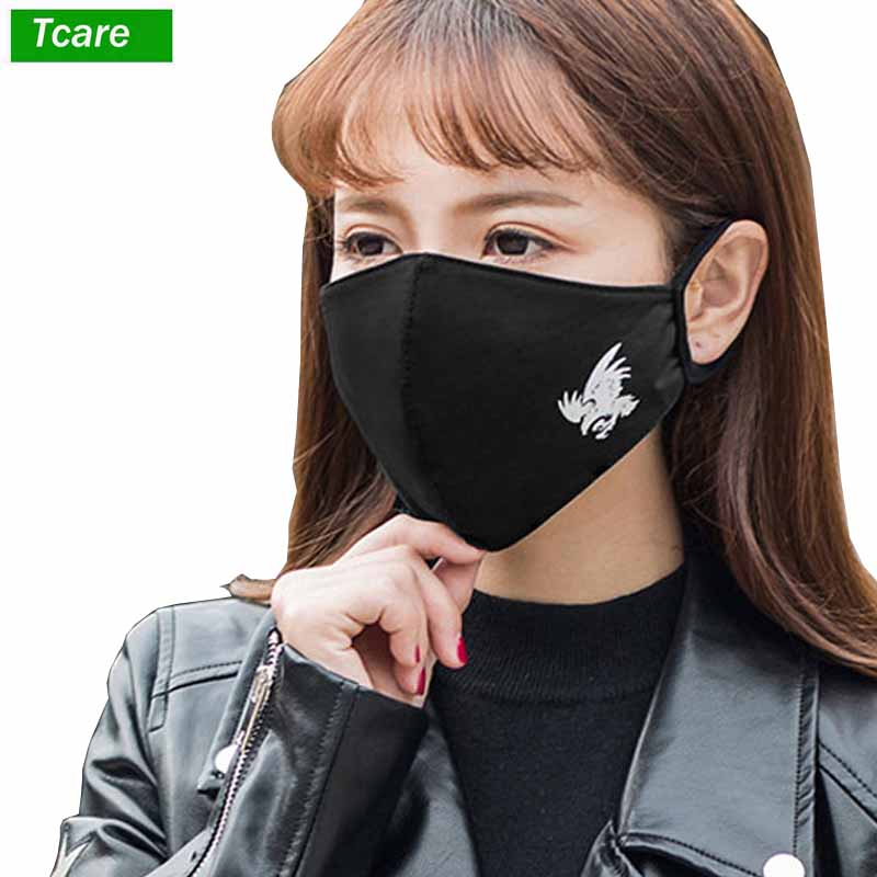 1Pcs Fashion Black Luminous Mouth Mask Anti Dust Mask Filter Windproof Mouth-muffle Bacteria Proof Flu Face Masks Care Reusable
