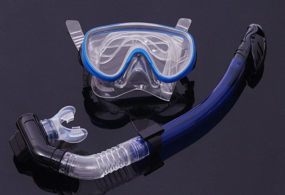 cb6a78c87 جديد المهنية الغوص مجموعة أنبوب التنفس بقناع الغوص نظارات الوقاية للسباحة  الصيد مجموعة النظارات سيليكون بركة معدات نظارات النظارات