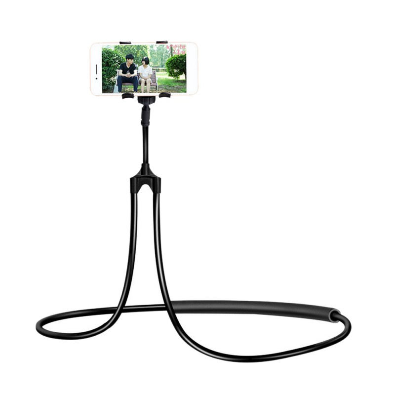 360 Rotating Flexible Lazy Mobile Phone Mount Stand Universal Lazy Bracket Hanging On Neck Cell Phone Holder