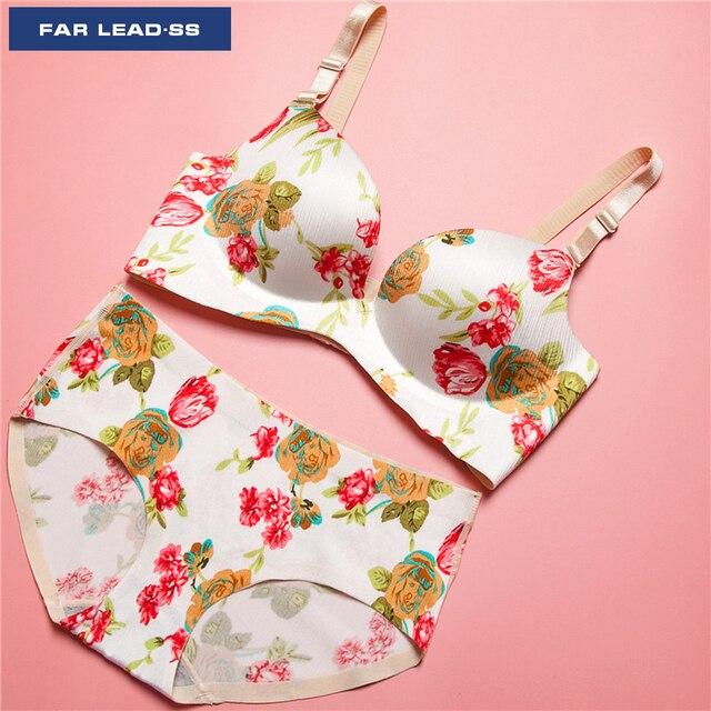 b1b562db89 FAR LEAD Fashion flower pattern women underwear suits