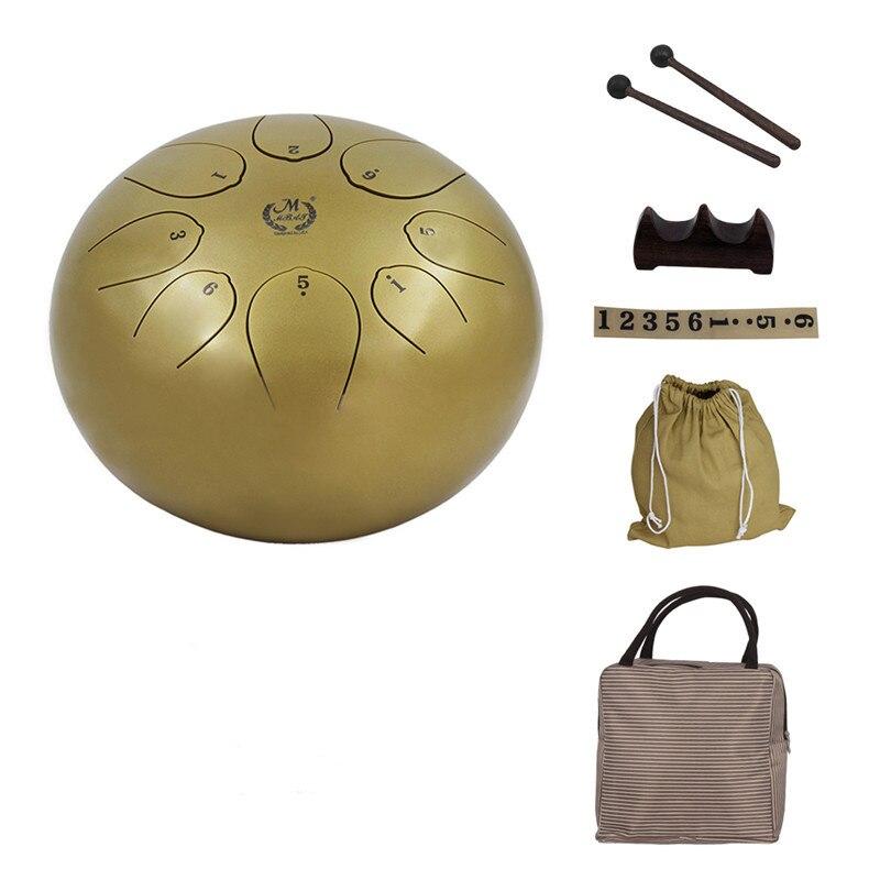 25 cm Pan main tambour bouddhisme méditation sans souci Percussion Instrument sac de rangement tambour son avec tambour bâton langue tambour