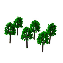 3CM green color  Railroad Layout Architectural model making materials scale plastic tree