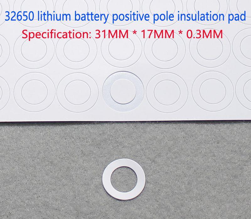 Купить с кэшбэком 50pcs/lot 32650 lithium battery positive spot welding stainless steel flat head cap 32650 battery positive flat head cap lug