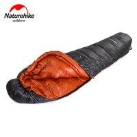 20 градусов 90% утиный пух Мумия спальный мешок 20D нейлон непромокаемые одиночные Спальные Мешки Кемпинг Туризм зима холодная компрессионная