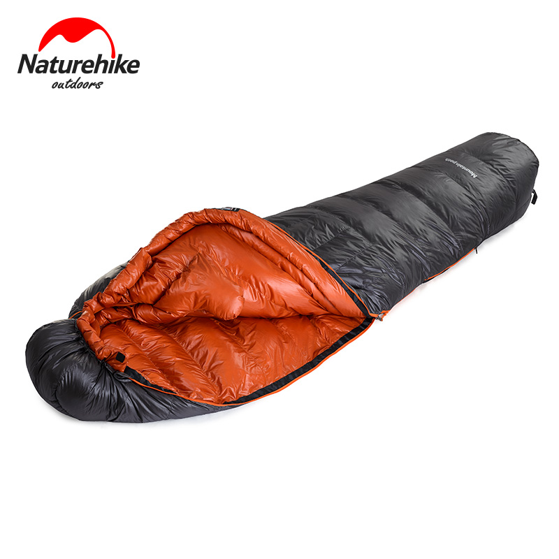 -20 Degree 90% Duck Down Mummy Sleeping Bag 20D Nylon Waterproof Single Sleeping Bags Camping Hiking Winter Cold Compression Bag прогулочная коляска baby care jogger cruze violet