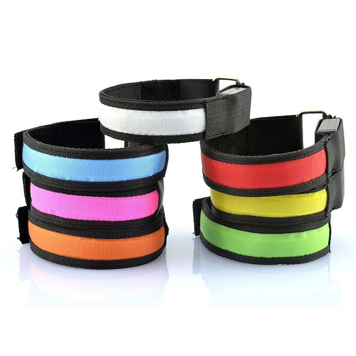 1 Pc Running Light Sports LED Wristbands Adjustable Glowing Bracelets For Runners Joggers Cyclists Riding Safety Bike Bicycle