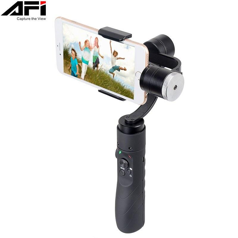 AFI V3 3-Axe Gimball Dslr Stabilisateur Pour Téléphone De Poche Smartphone Pour Iphone X 8 Plus 8 7 6 samsung S9 S8 S7 & caméra d'action