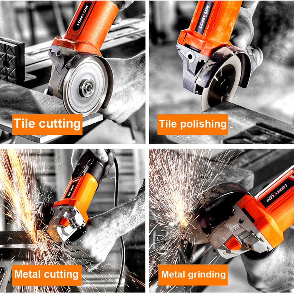 electric angle grinder tile cutter car polisher wheels polishing grinding machine dual action cutting woodworking power tool set