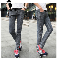 Men S Autumn Dark Grey Male Slim Jeans Skinny Pencil Pants Jeans Men Robin Jeans Homme