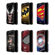 Marvel Venom Iron man Tempered Glass Case For iphone X XS MAX XR Superman batman Color edge back Cover 6 S 7 8 Plus