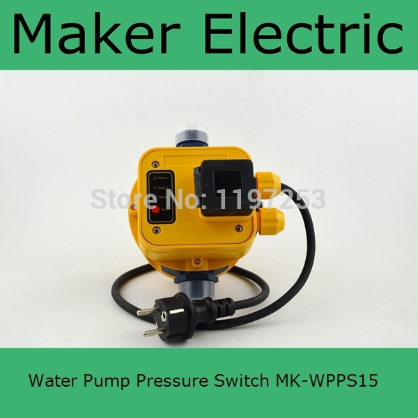 MK-WPPS15 Automatic Water Pump Pressure Controller Electronic Switch Control Water Shortage Protection with plug socket wires купить