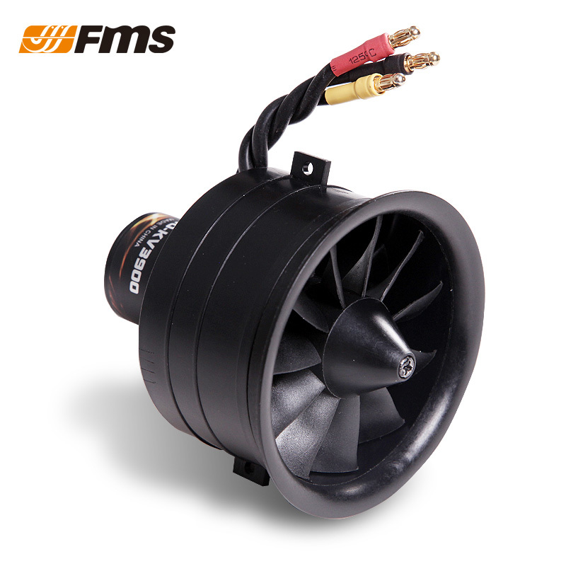 FMS New Pattern Model RC Aircraft Parts 64 MM 11 Blade Plastic Duct with Motor Power Group for Fixed wing Optional 3S 4S 3pcs battery and european regulation charger with 1 cable 3 line for mjx b3 helicopter 7 4v 1800mah 25c aircraft parts