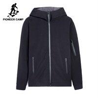 פיוניר מחנה סלעית waterproof jacket בגדי גברים מותג מעיל רוח מקרית מוצק רך מעיל מעטפת אפור שחור זכר AJK702377