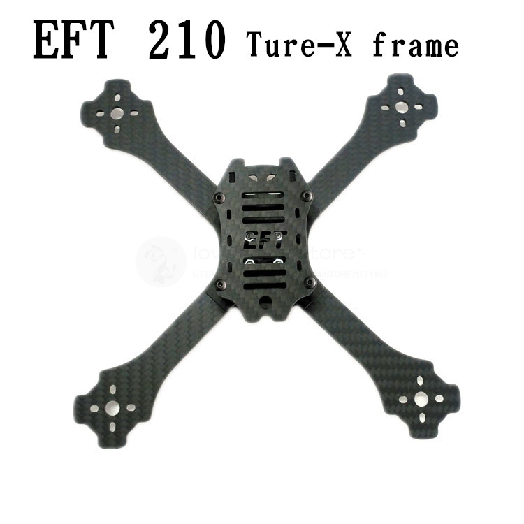 DIY mini FPV drone EFT210 210mm 5 pure carbon fiber ture-X frame unassembled rc quadrocopter mini drone 210mm 210 pure carbon fiber drone dron helicopter frame kit motor cover for lisam qav210